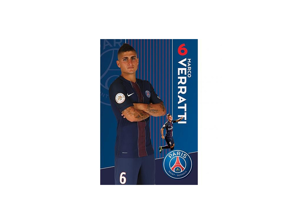 Plakát PSG Angel Veratti 61x91cm