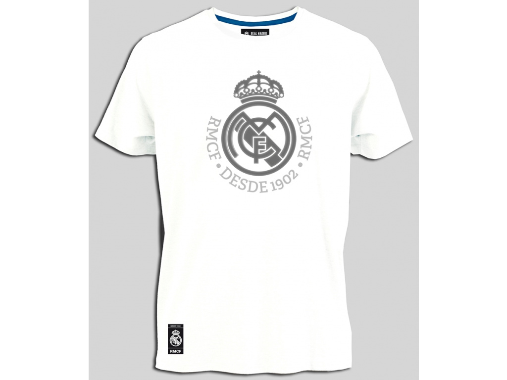 Pánské tričko Real Madrid printed bílé