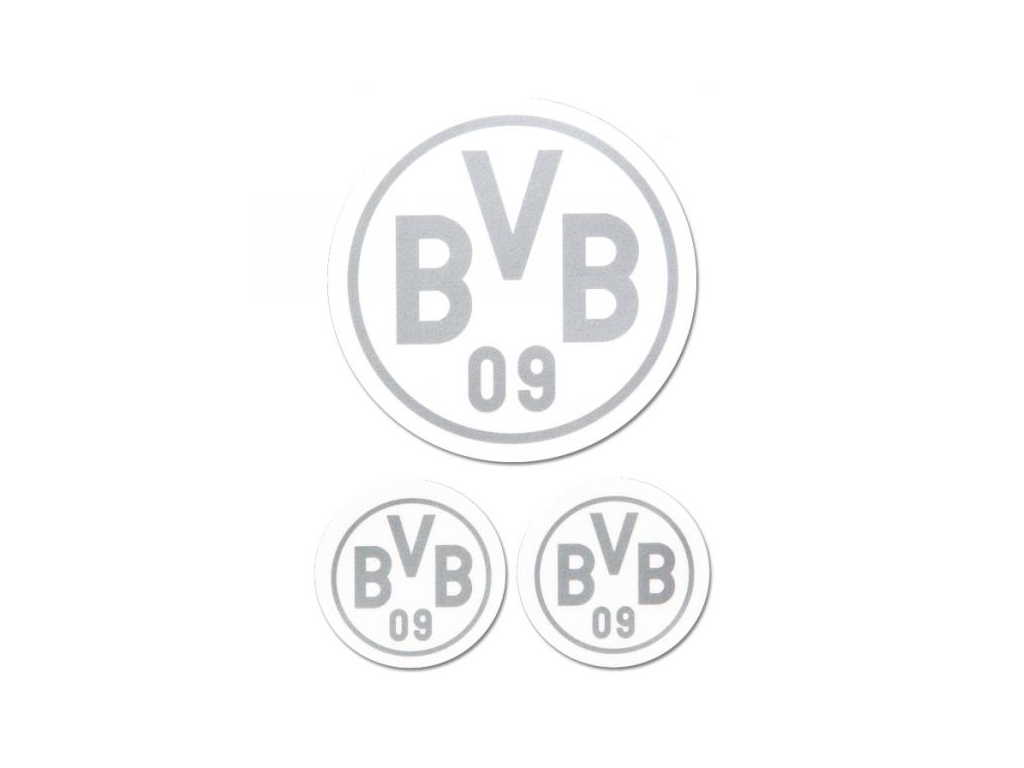 Samolepky Borussia Dortmund 3pk silver