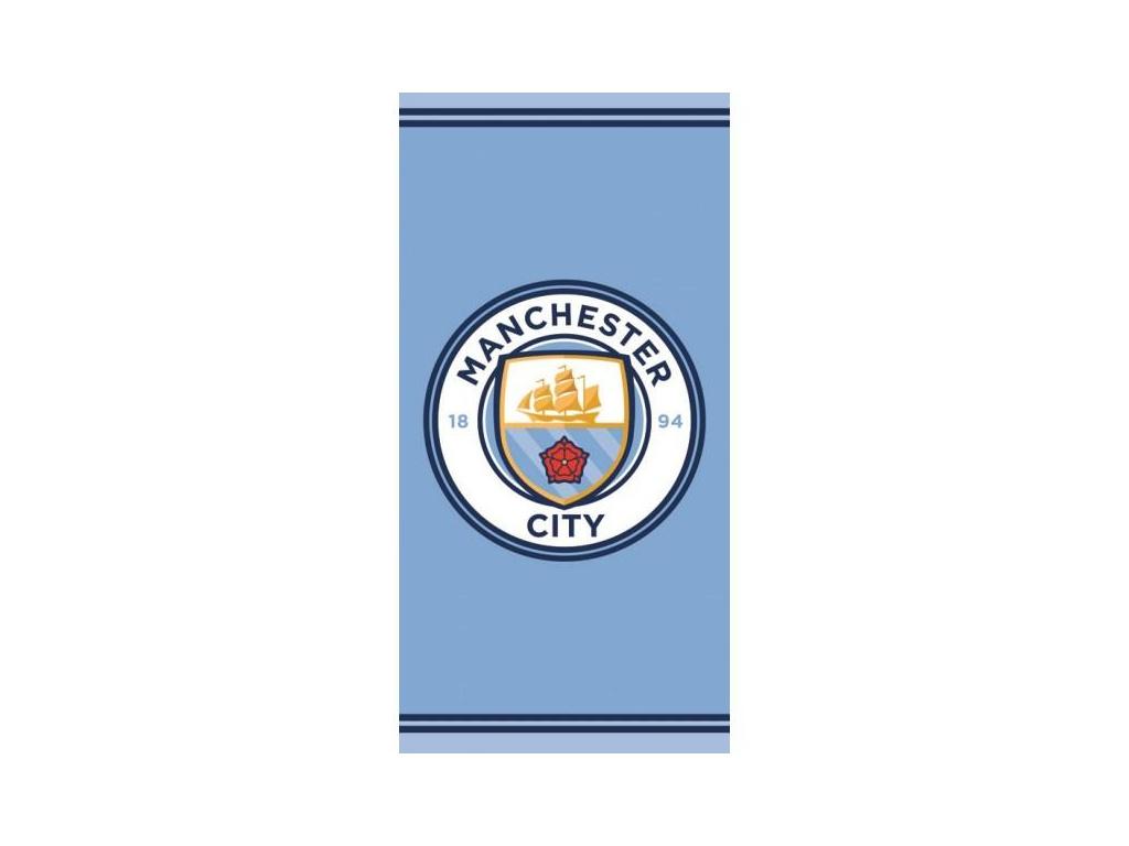 Osuška Manchester City crest 70x140cm