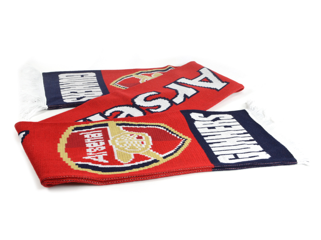 arsenal gunners scarf with crest
