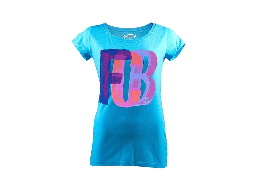 Dívčí tričko FC Barcelona Sun azul