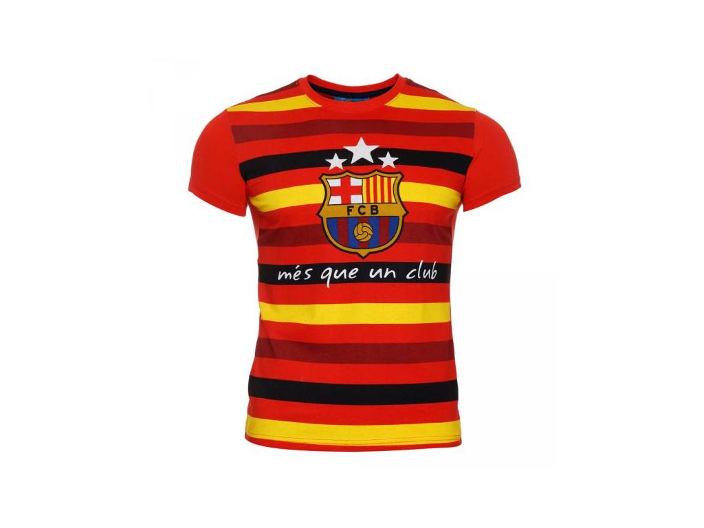 Tričko FC Barcelona oranžové stripe JR