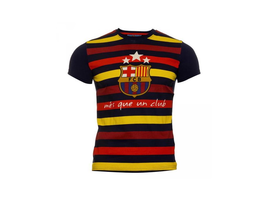 Tričko FC Barcelona modré stripe JR