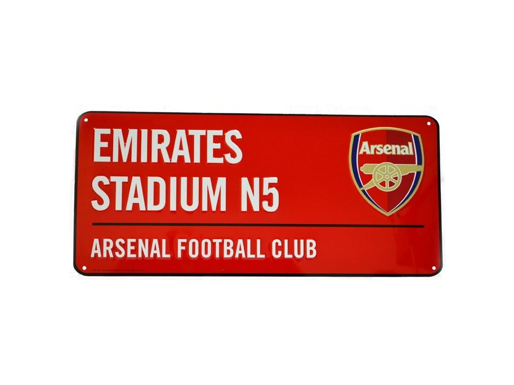 Plechová cedule Arsenal SD červená