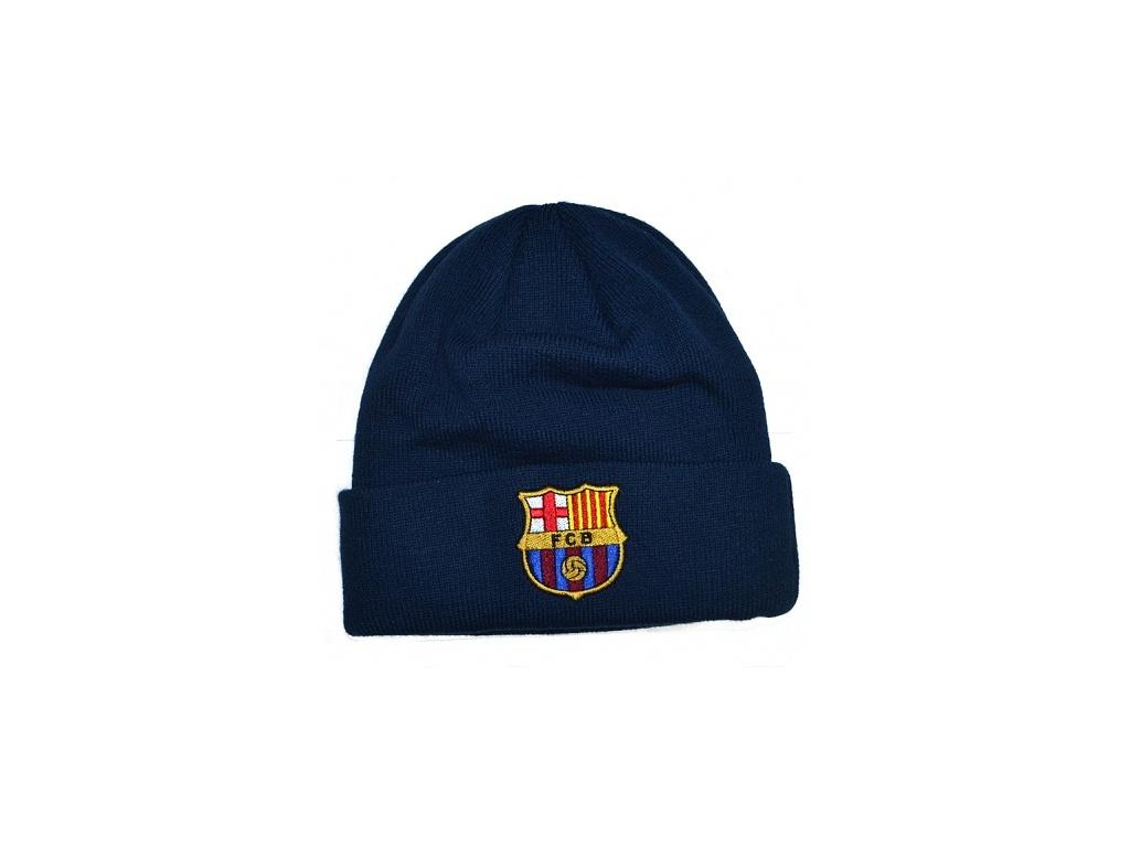Zimní čepice FC Barcelona modrá tu