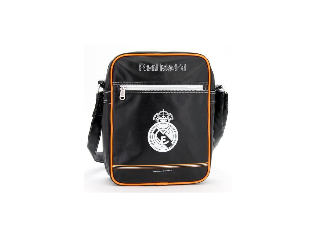 Taška na rameno Real Madrid černooranžová velká