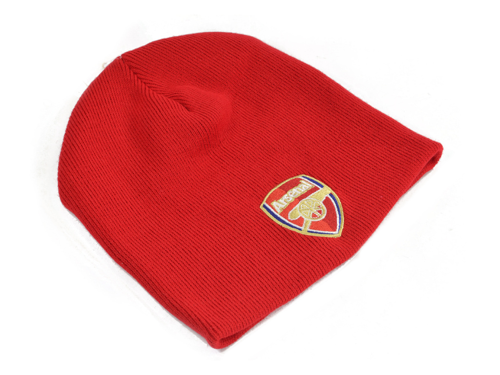 arenal red crest beanie
