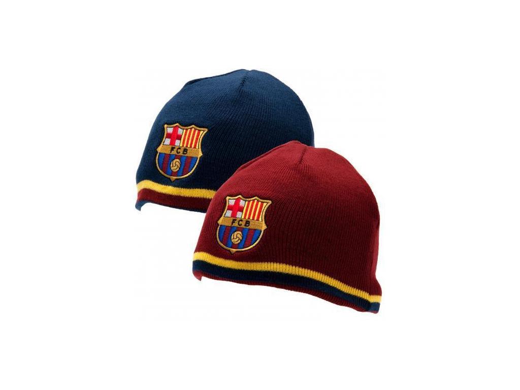 Zimní čepice FC Barcelona oboustranná