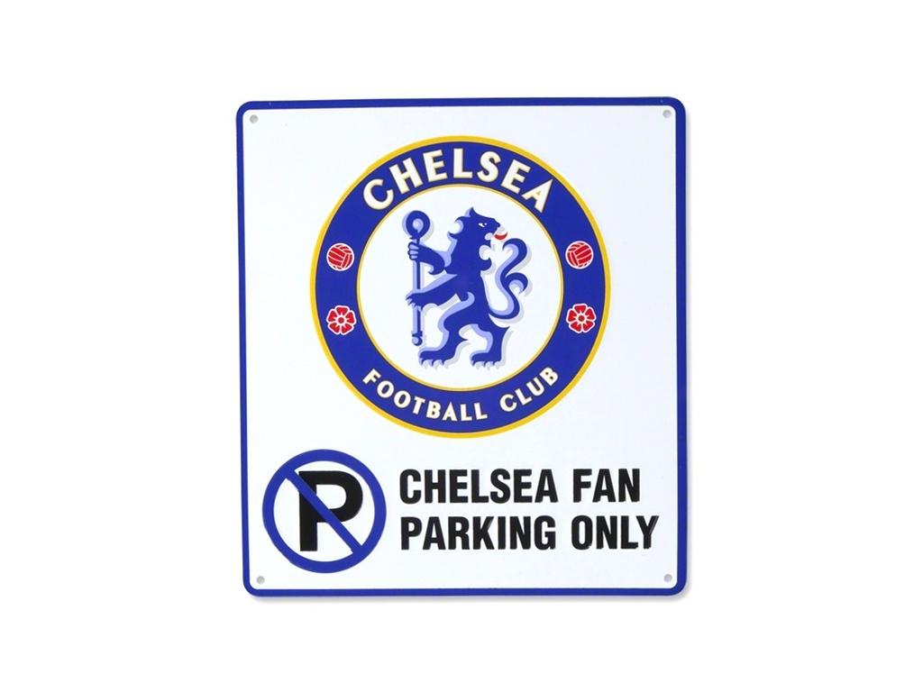 Plechová cedule na dveře Chelsea No Parking