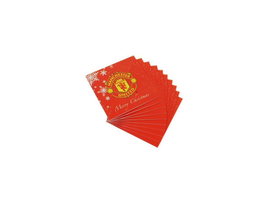 Vánoční přání Manchester United  FC 10 kusů