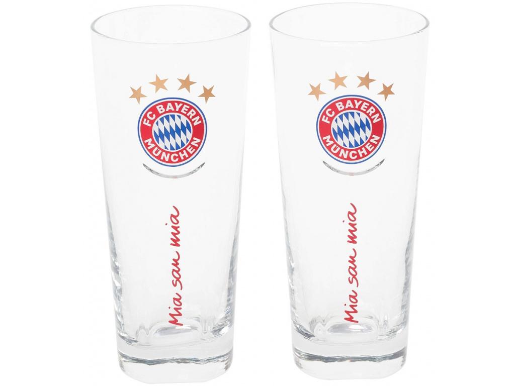 Sada sklenic 300ml FC Bayern Mnichov 2ks slogan