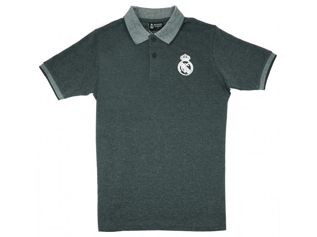 Pánské polo Real Madrid dark grey
