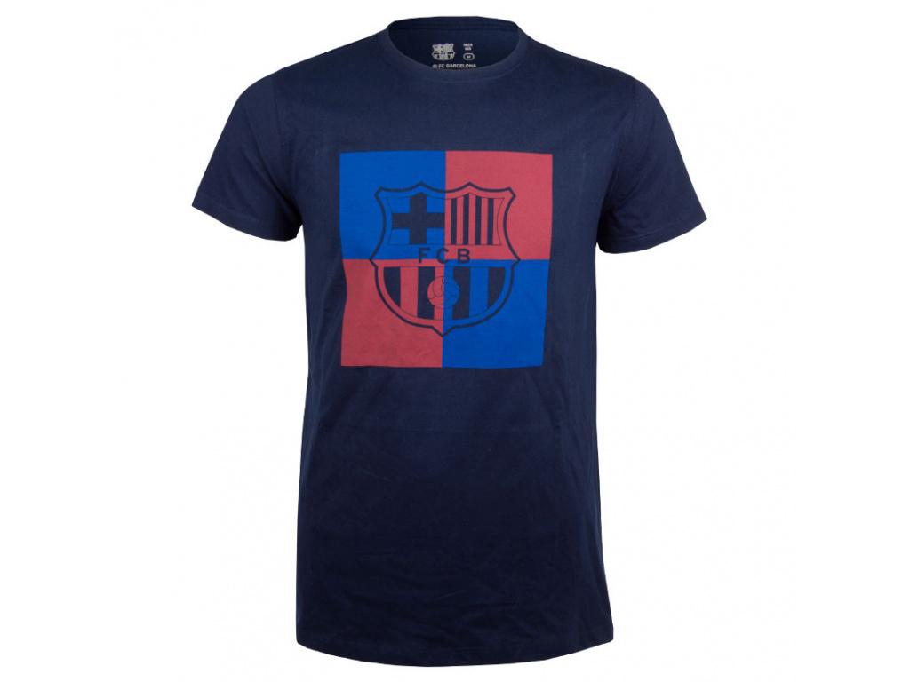 Pánské tričko FC Barcelona chess navy