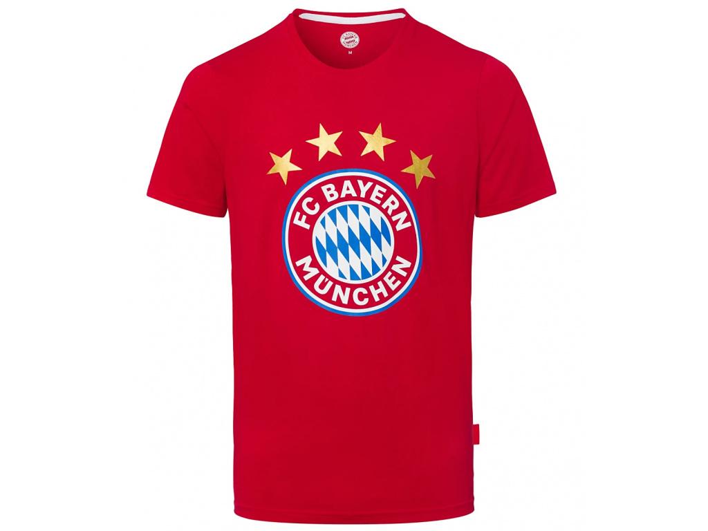 Pánské tričko Bayern Mnichov red logo
