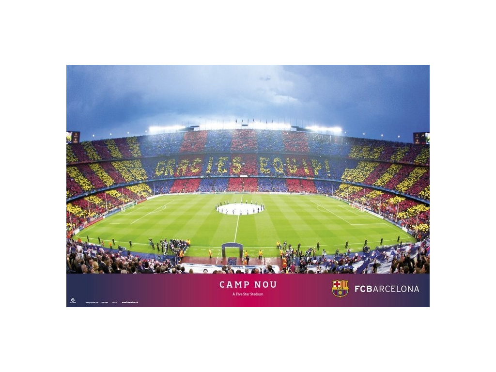 plakat fc barcelona stadion