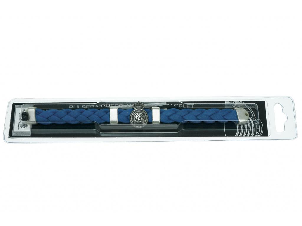 Kožený náramek FC Real Madrid blue