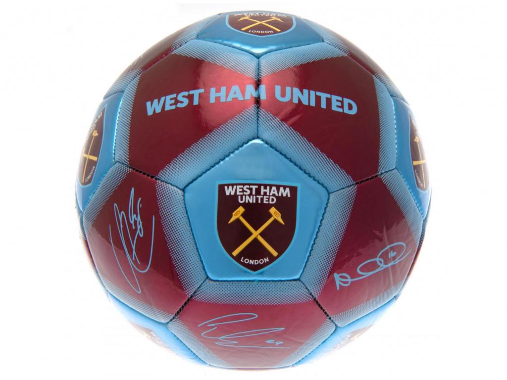 west ham signature ball burgundy sky blue size 5 1