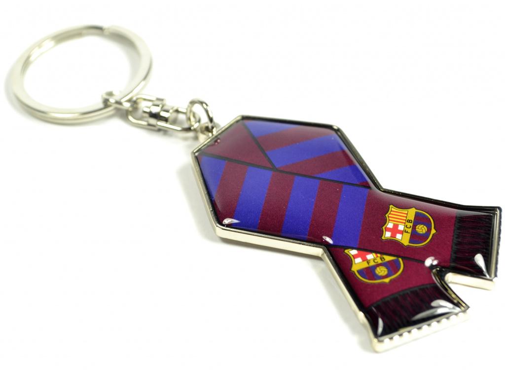 barcelona scarf metal keyring