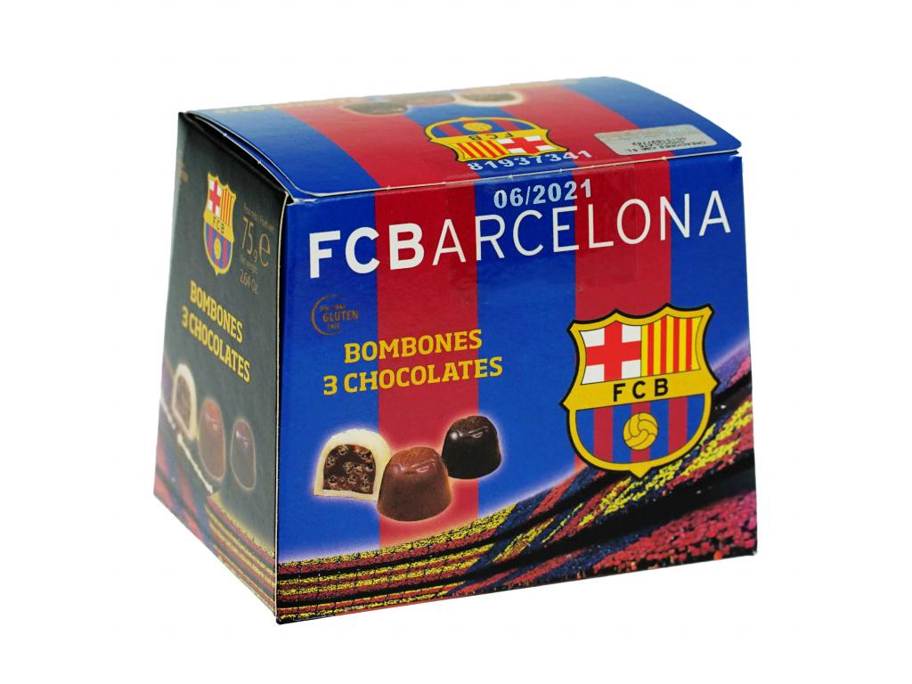 Čokoládové bonbóny FC Barcelona 75g