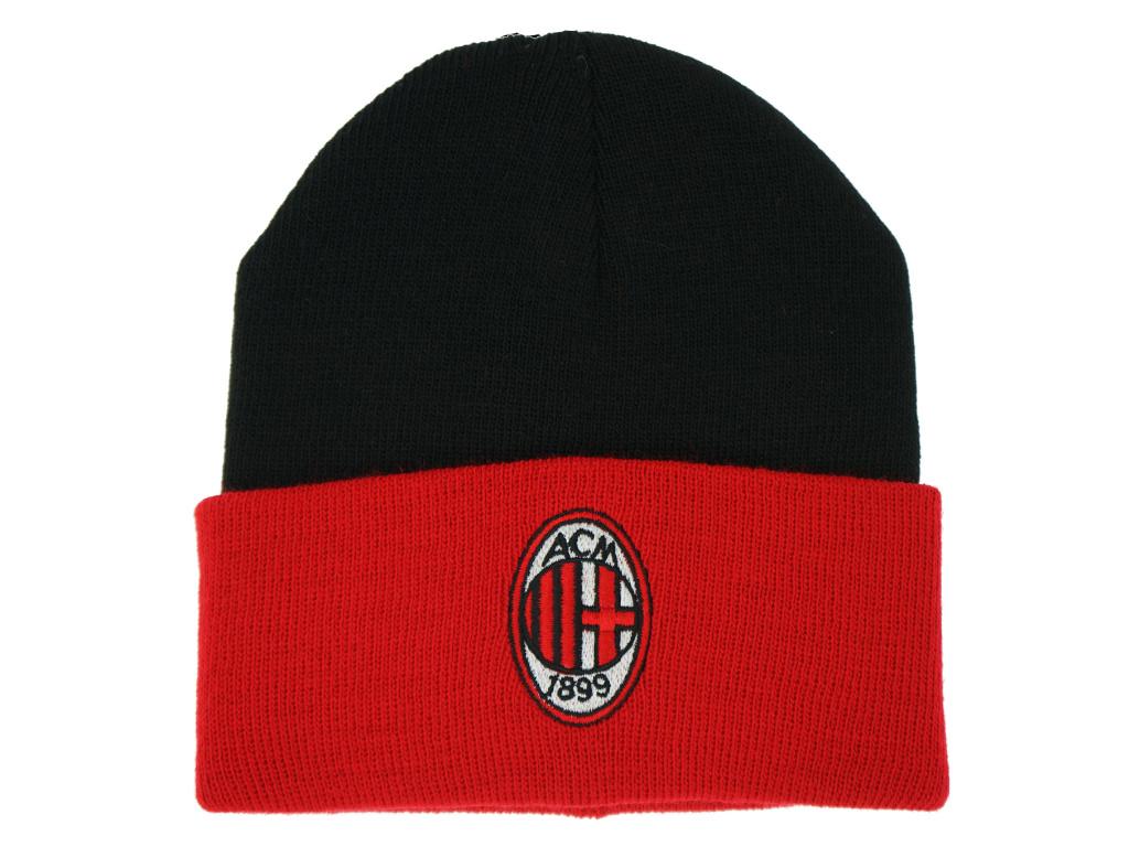 Zimní čepice AC Milán cutt black