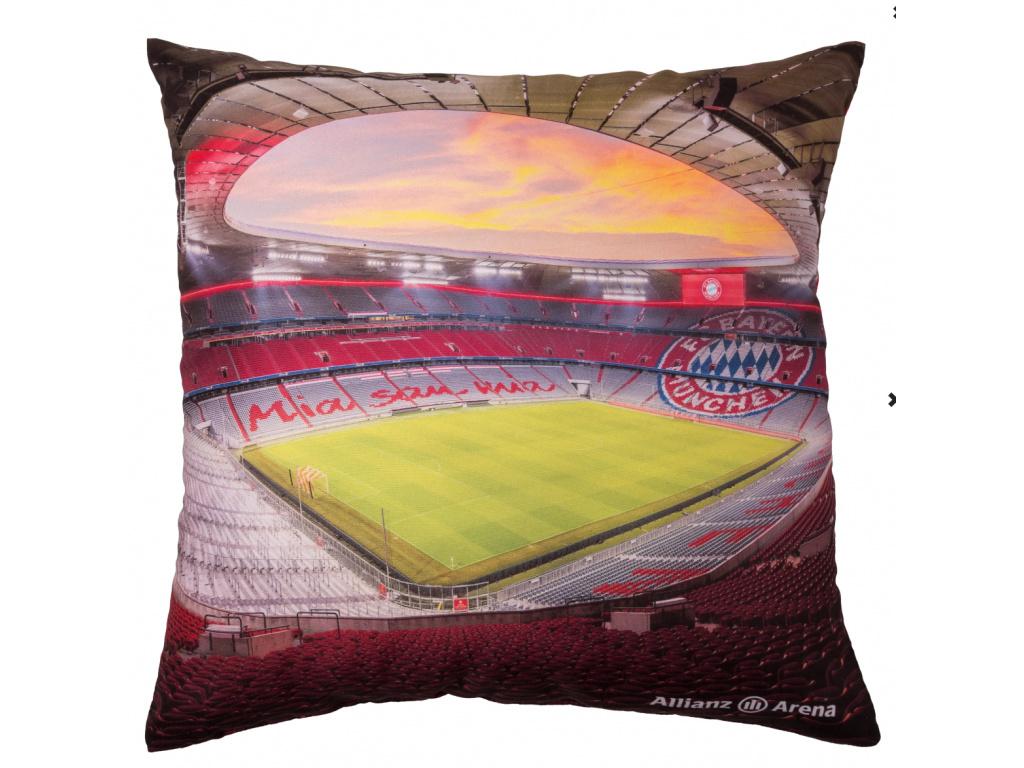 Polštářek Bayern Mnichov Allianz arena 40x40 cm