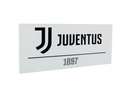 Plechová cedule Juventus Turín FC white
