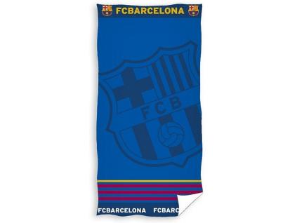 Luxusní osuška FC Barcelona žakard 86x160cm