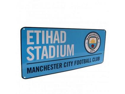Plechová cedule Manchester City modrá