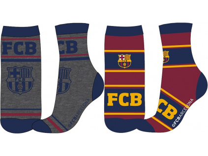 Ponožky FC Barcelona 18 dětské pruhované 2pk