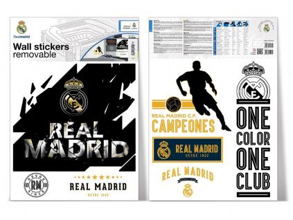 Samolepící dekorace na zeď Real Madrid logo maxi 50 x 70 cm 2archy