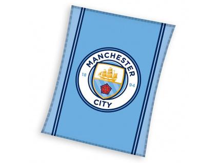 Fleecová deka Manchester City logo 110x140cm