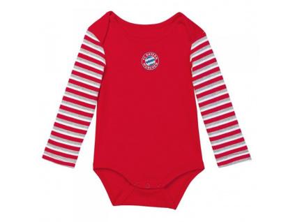 Kojenecké body Bayern Mnichov stripes long