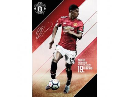 Plakát Manchester United 17/18 Rashford 61x91cm
