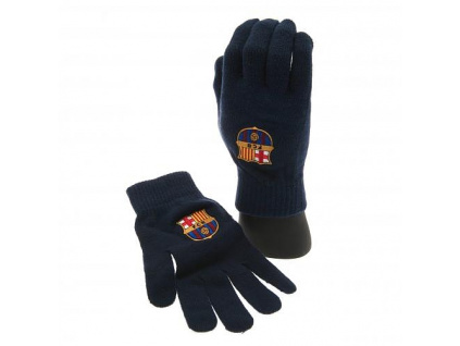 Pletené rukavice FC Barcelona navy