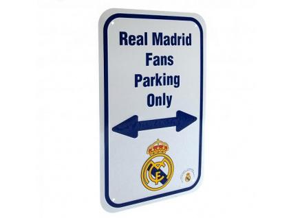 Plechová cedule Real Madrid No parking