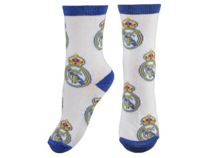 Ponožky Real Madrid JR znaky bílé