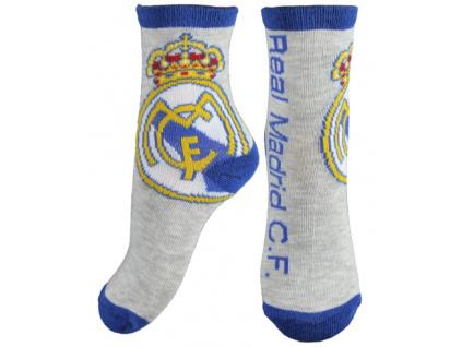 Ponožky Real Madrid JR crest šedé