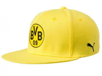 Kšiltovka Puma Borussia Dortmund stretchfit logo žlutá