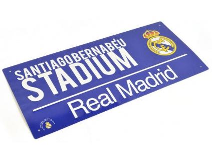 Plechová cedule Real Madrid modrá