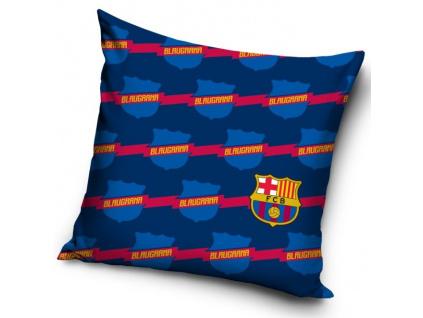 Povlak na polštářek FC Barcelona znaky 40 x 40 cm