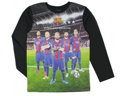 Tričko FC Barcelona hráči 17 junior černé