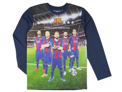 Tričko FC Barcelona hráči 17 junior modré