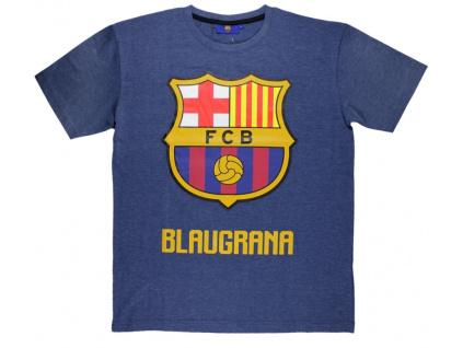 Pánské tričko FC Barcelona navy melange