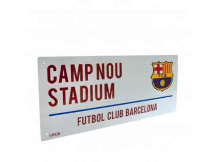 Plechová cedule FC Barcelona Camp Nou