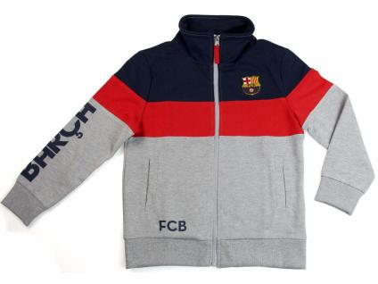 Mikina FC Barcelona šedá junior