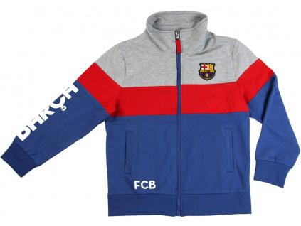 Mikina FC Barcelona modrá junior