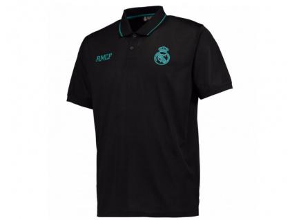 Pánské polo Real Madrid urban černé
