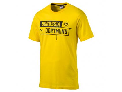 Tričko Puma Borussia Dortmund cyber yellow jr