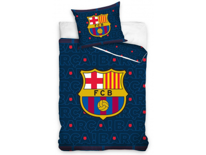 Povlečení FC Barcelona dark blue 140/200, 70/90 cm